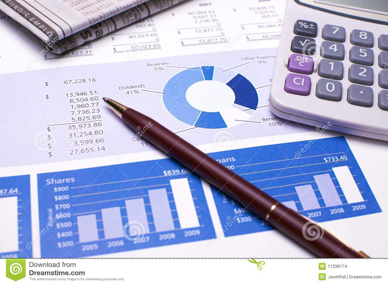Financial Planning Blue Reports Stock Photo Image Of Union Banking 11338174