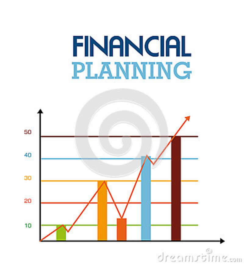 Finance Background: Financial Planning Royalty Free Stock Images