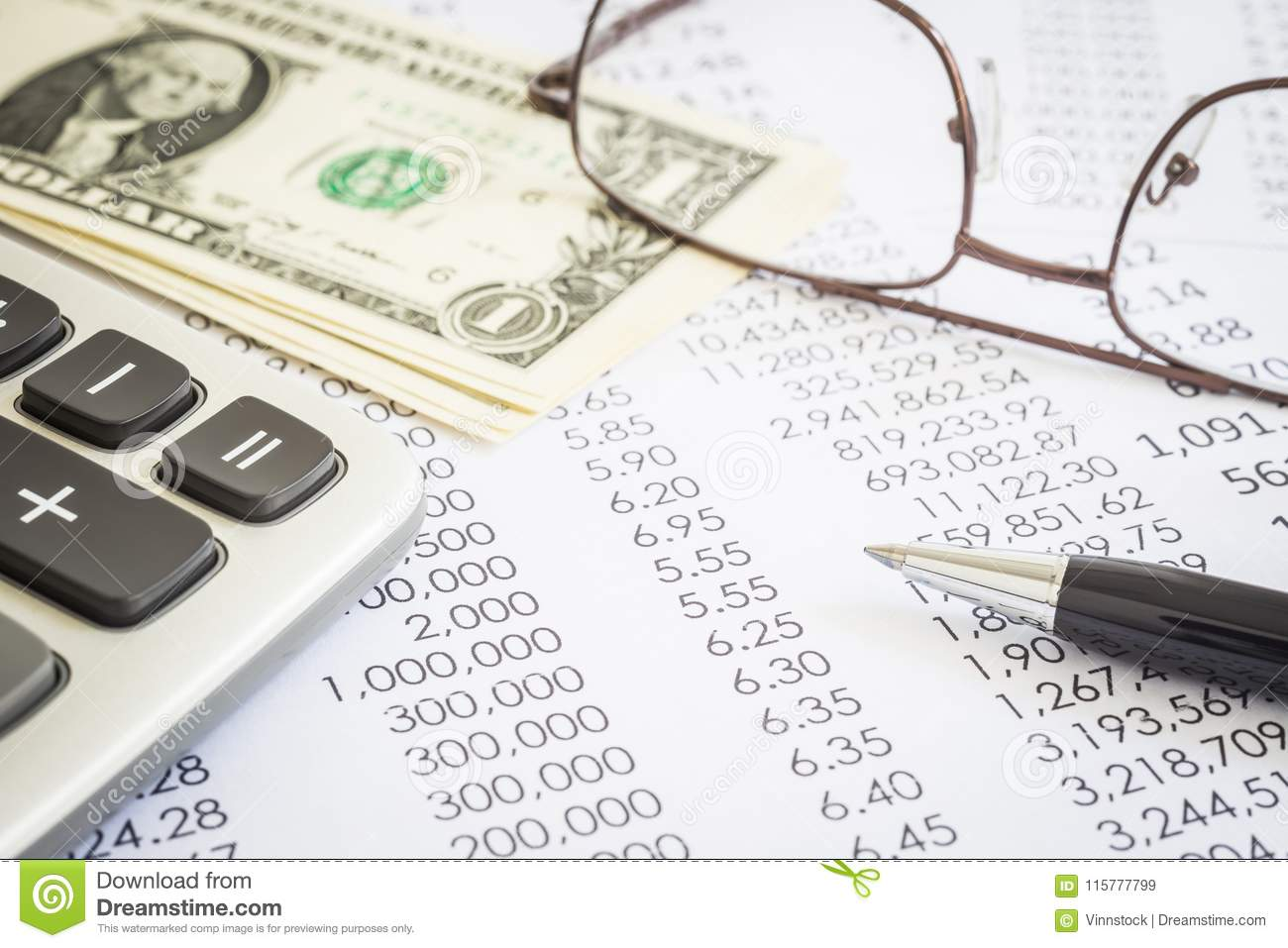 Financial planning and marketing budget for accounting.