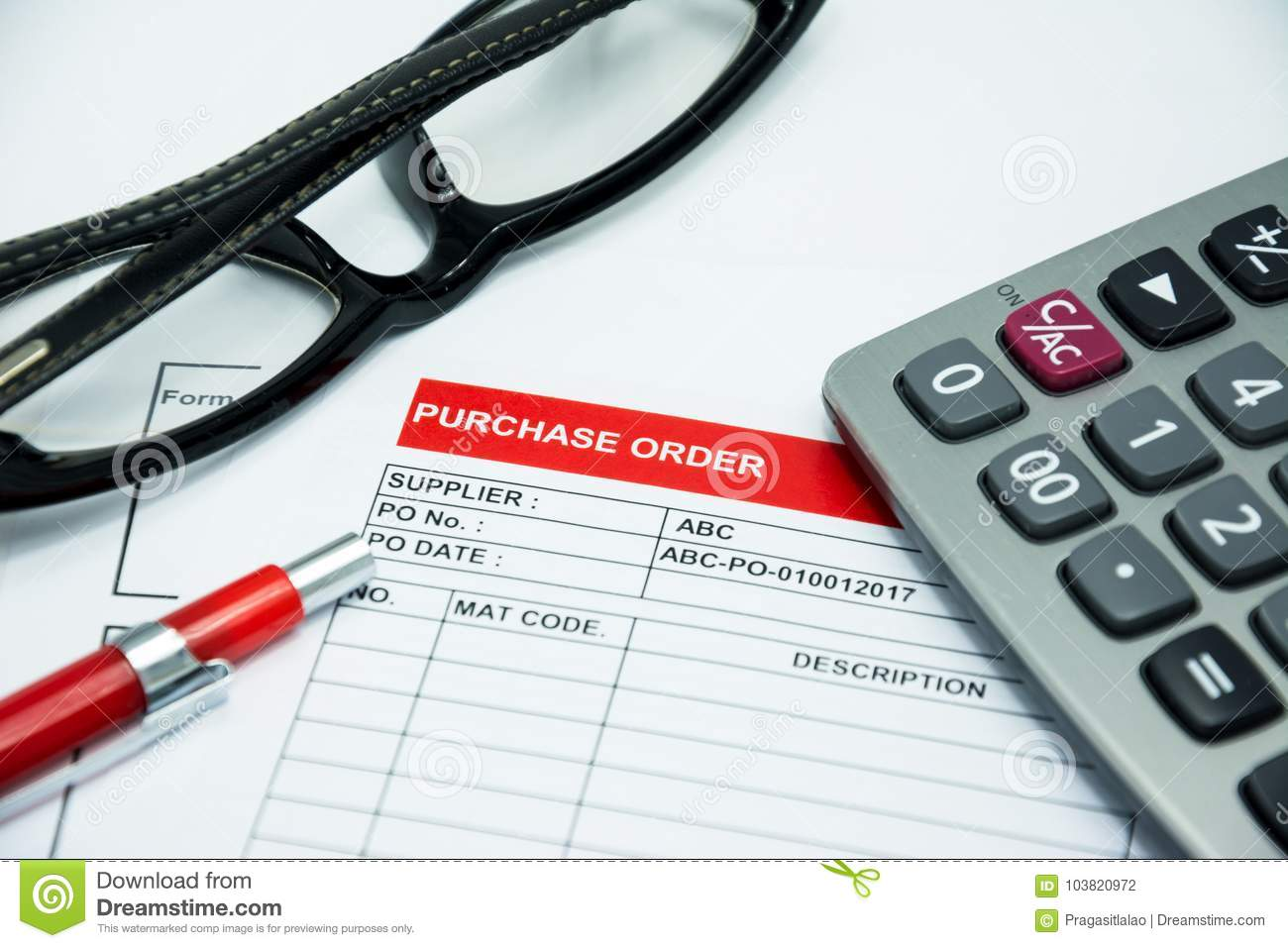 Financial Purchasing Order Contract Sign Concept Background