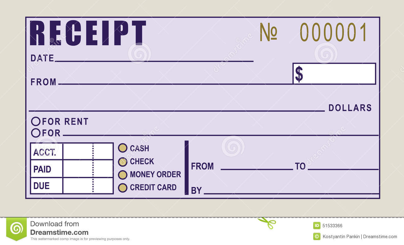 financial receipt stock vector image  financial receipt