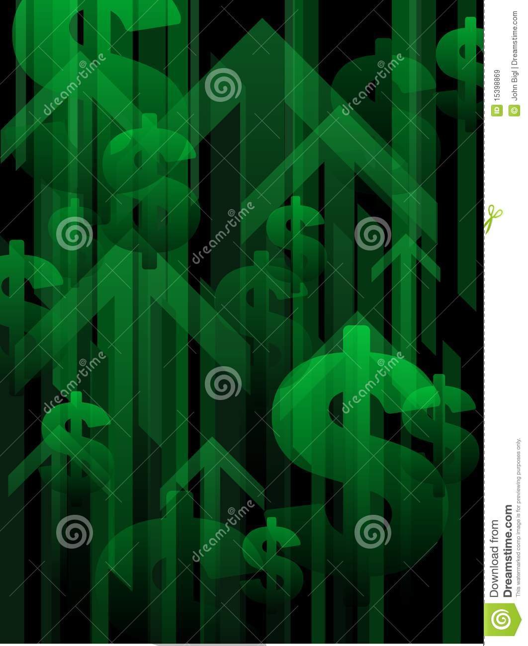 Finance Background: Financial Recovery Background Royalty Free Stock Images