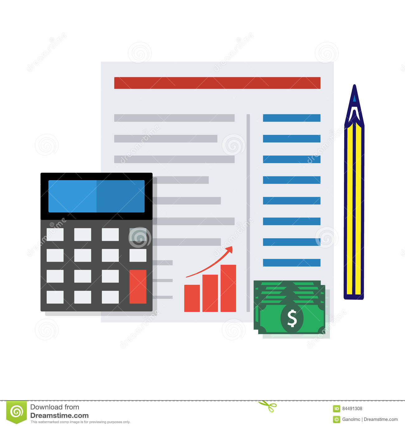 financial report concept vector illustration stock vector