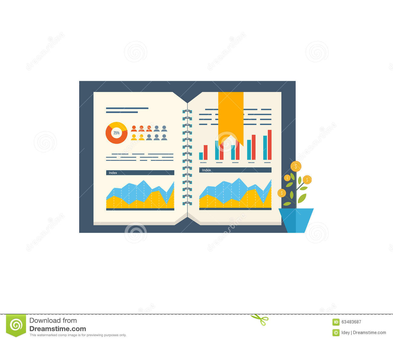 financial report and financial strategy investment growth brochure