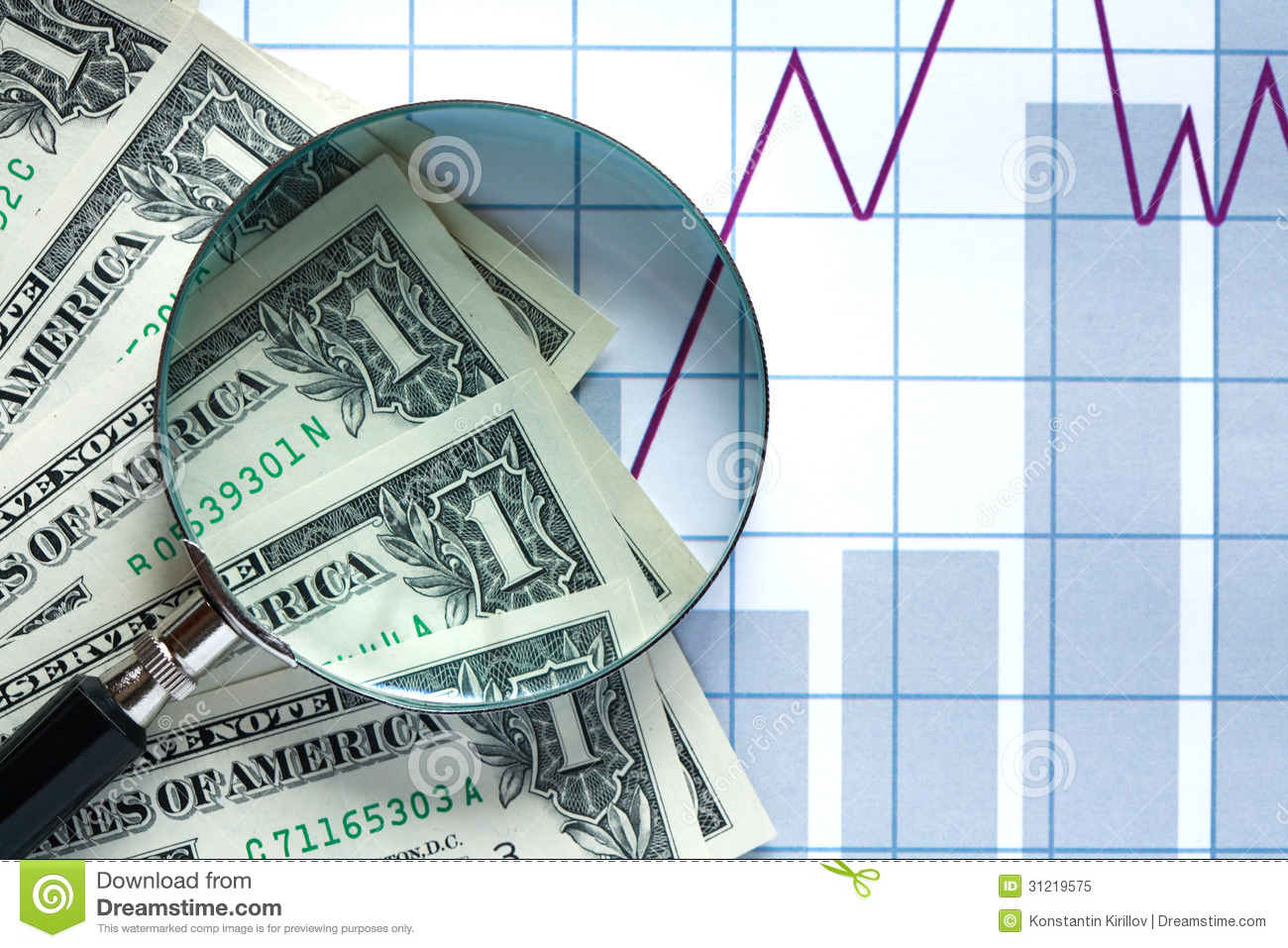 financial research royalty free stock photo