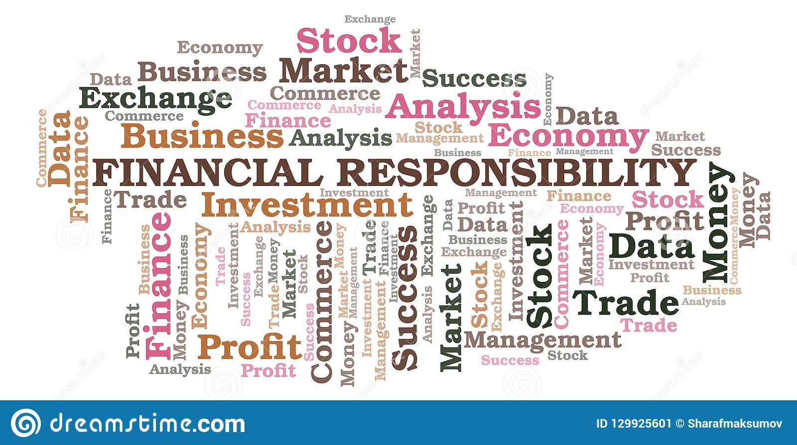Financial Responsibility Word Cloud. Stock Illustration ...