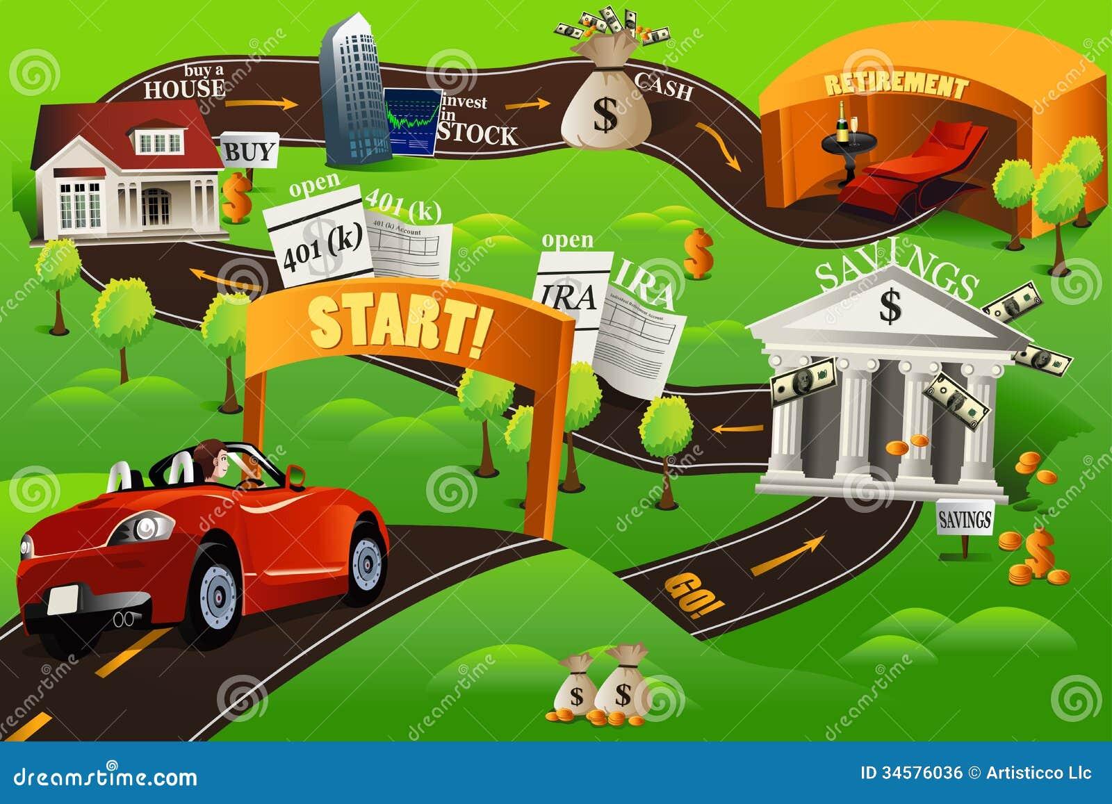 Roadmap Stock Illustrations Roadmap Stock Illustrations - Financial roadmap template