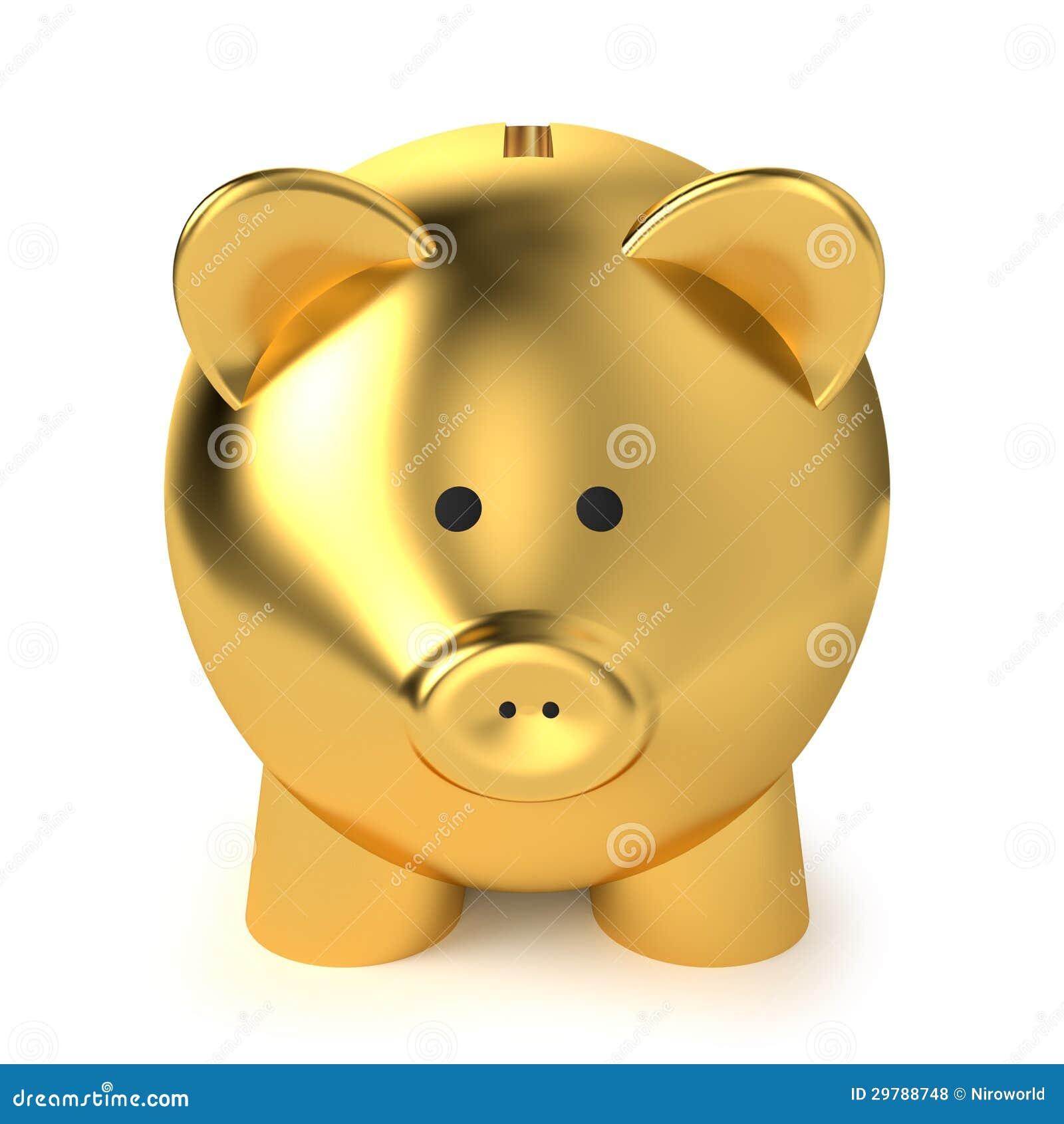 gold piggy bank piggy bank financial savings business concept  - piggy bank