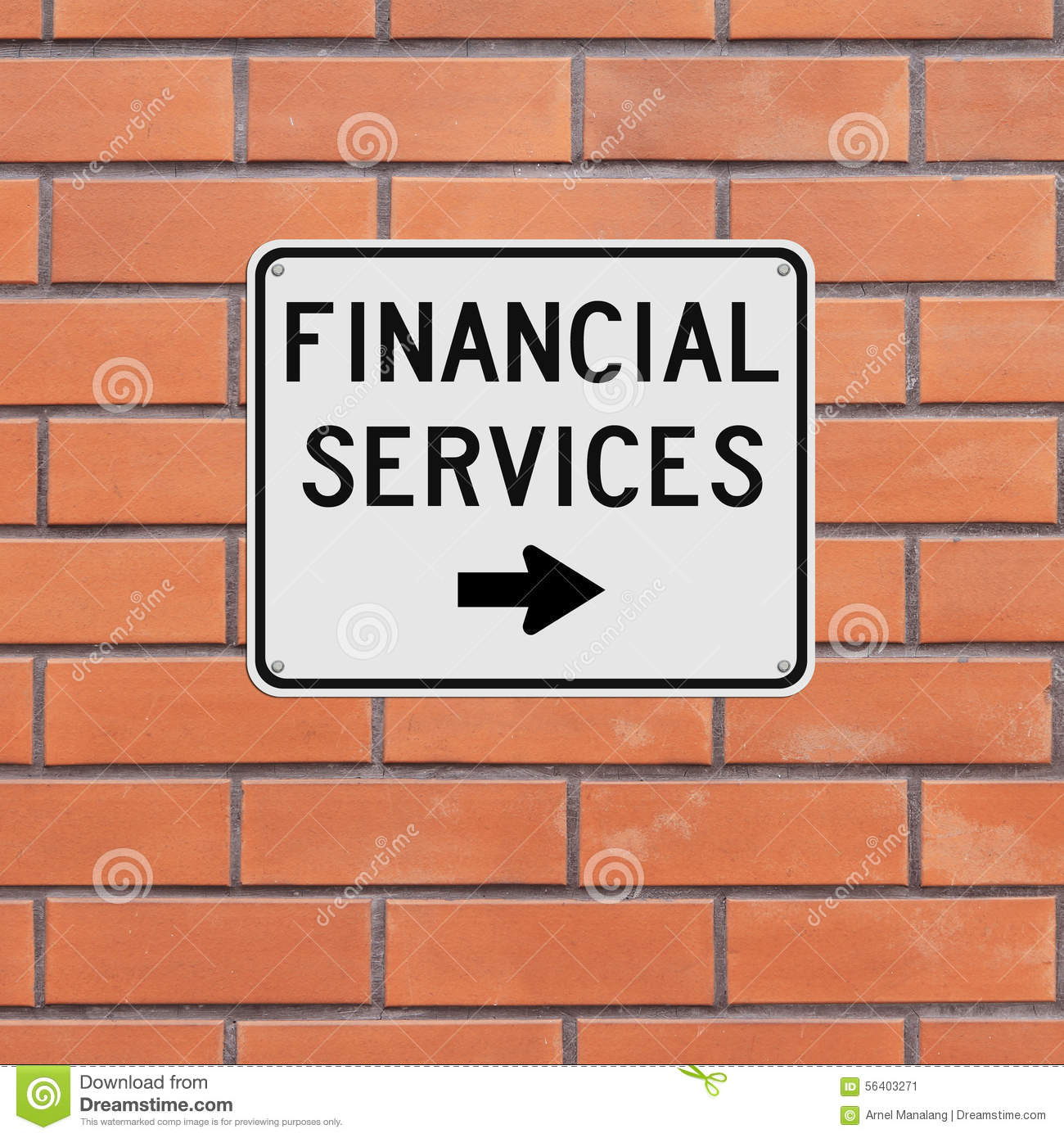 Finance Sign: Financial Services Stock Photo