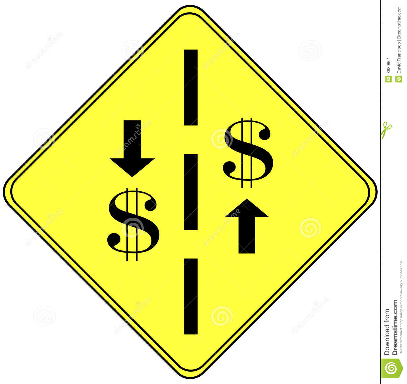 Finance Sign: Financial Sign Stock Image