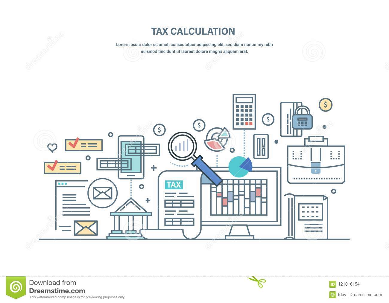 financial tax calculations accounting research counting profit