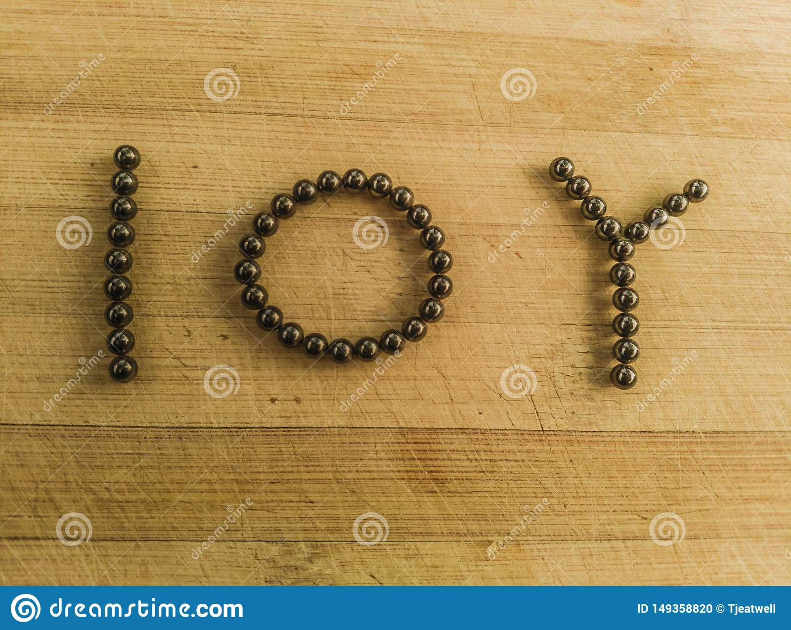 Financial ten year symbol in magnetic ball bearings