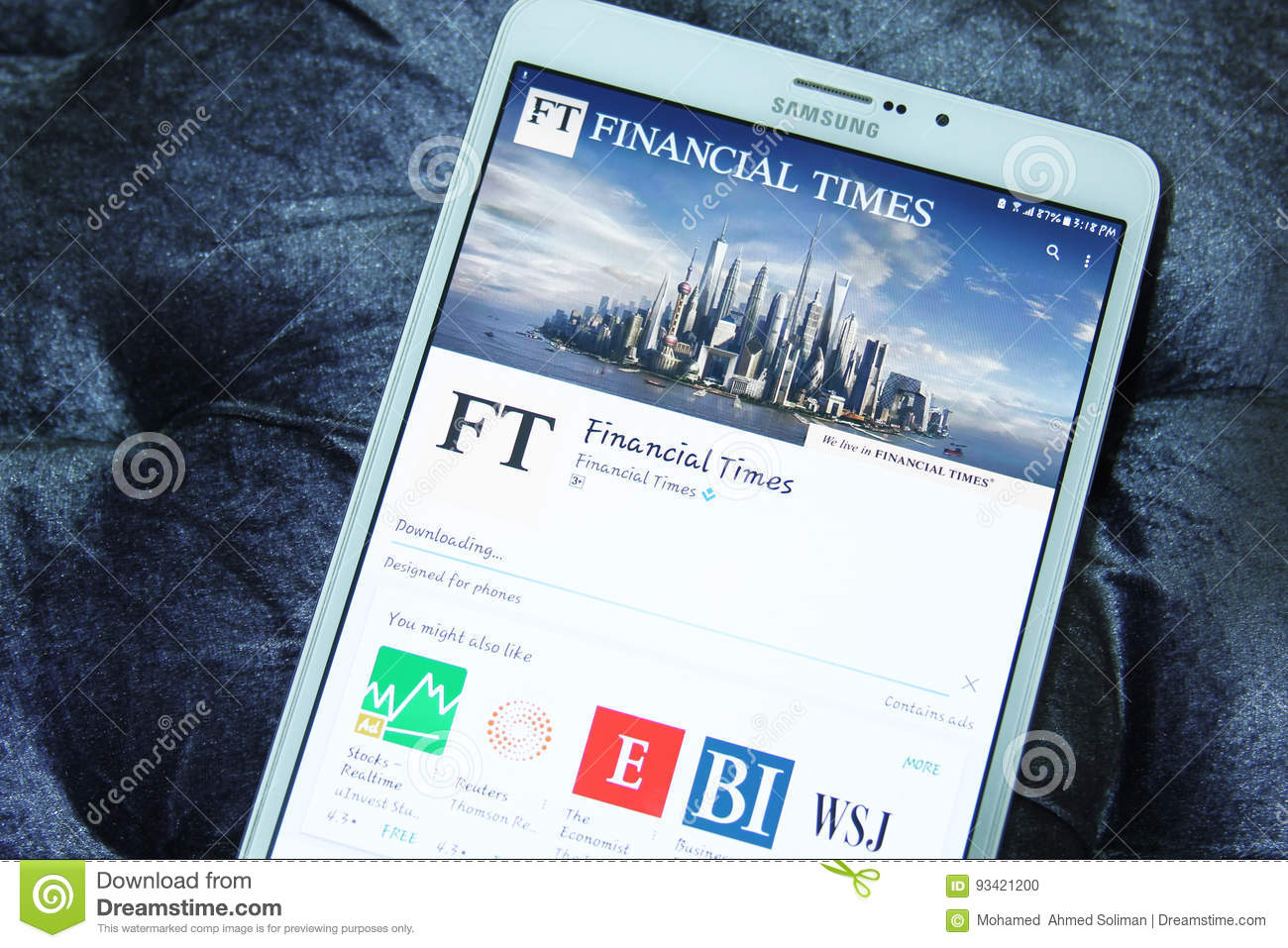Financial Times mobile app editorial image  Image of logos - 93421200
