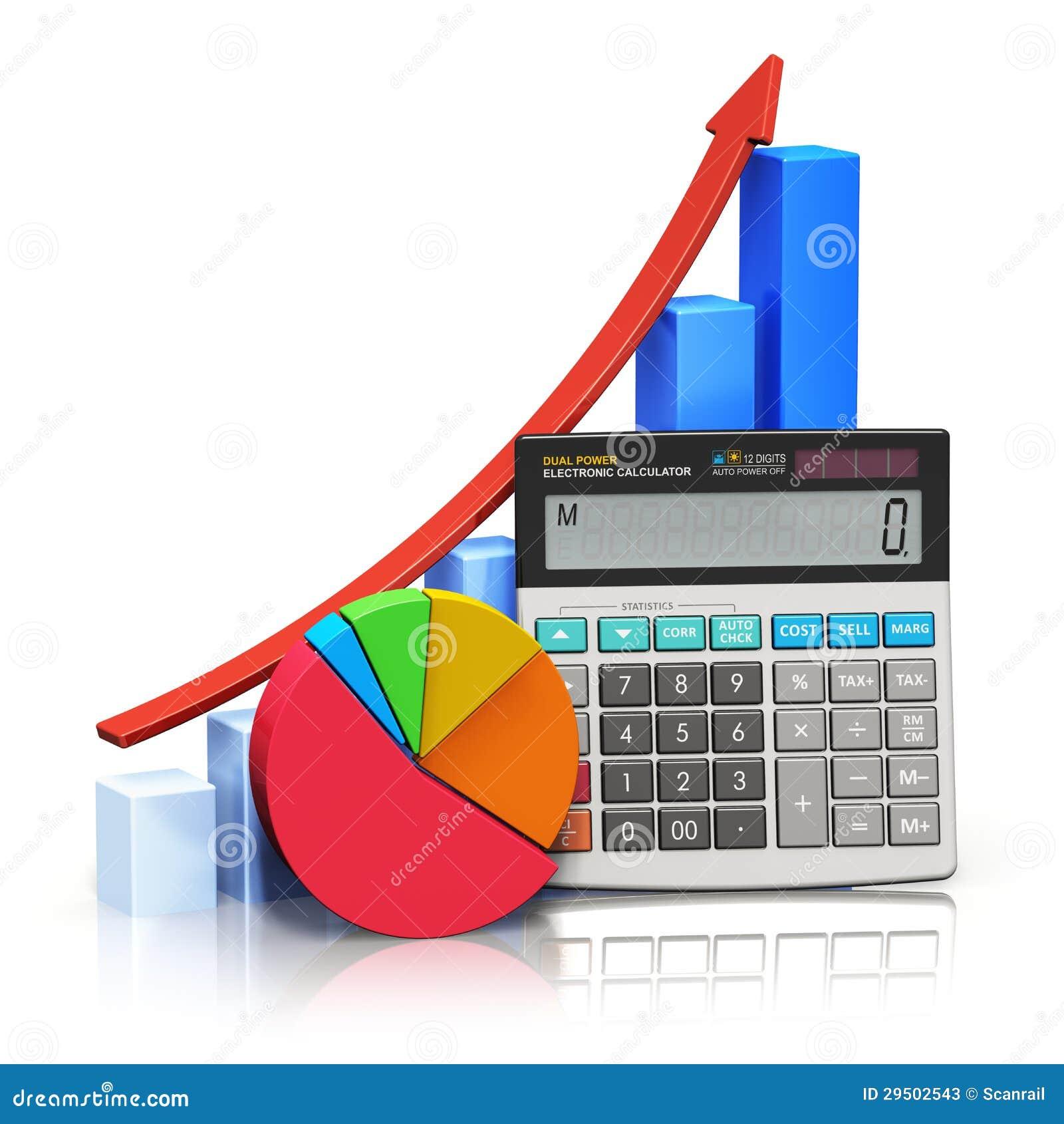 Financieel succes en boekhoudingsconcept
