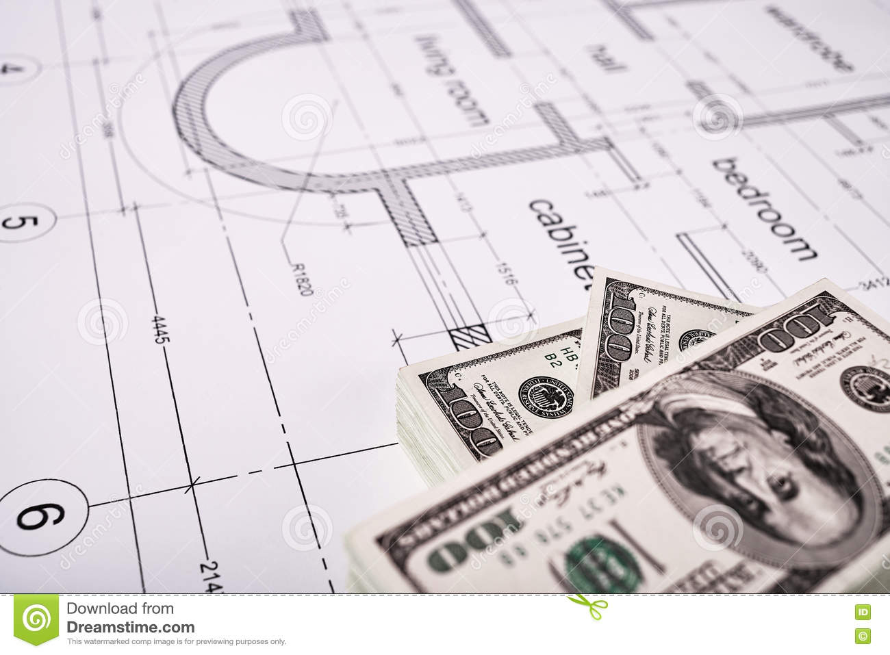 Financing Of Construction Stock Photo Image Of Roll 77231968
