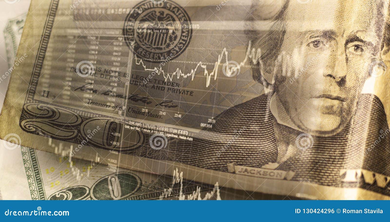 Finanse, biznesu i bankowości pojęcie, Dwoisty ujawnienie pieniądze,