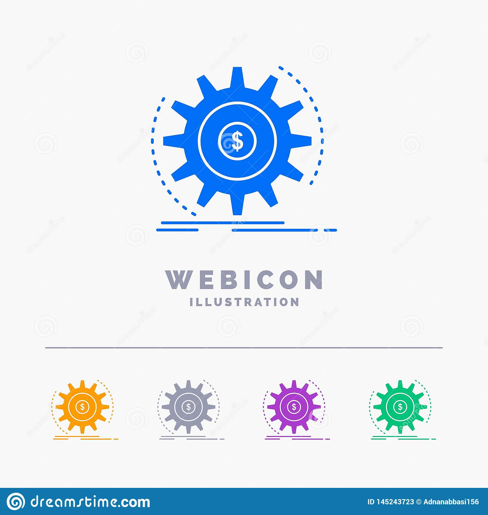 Finanse, przepływ, dochód, robi, pieniądze 5 koloru glifu sieci ikony szablon odizolowywający na bielu r?wnie? zwr?ci? corel ilus