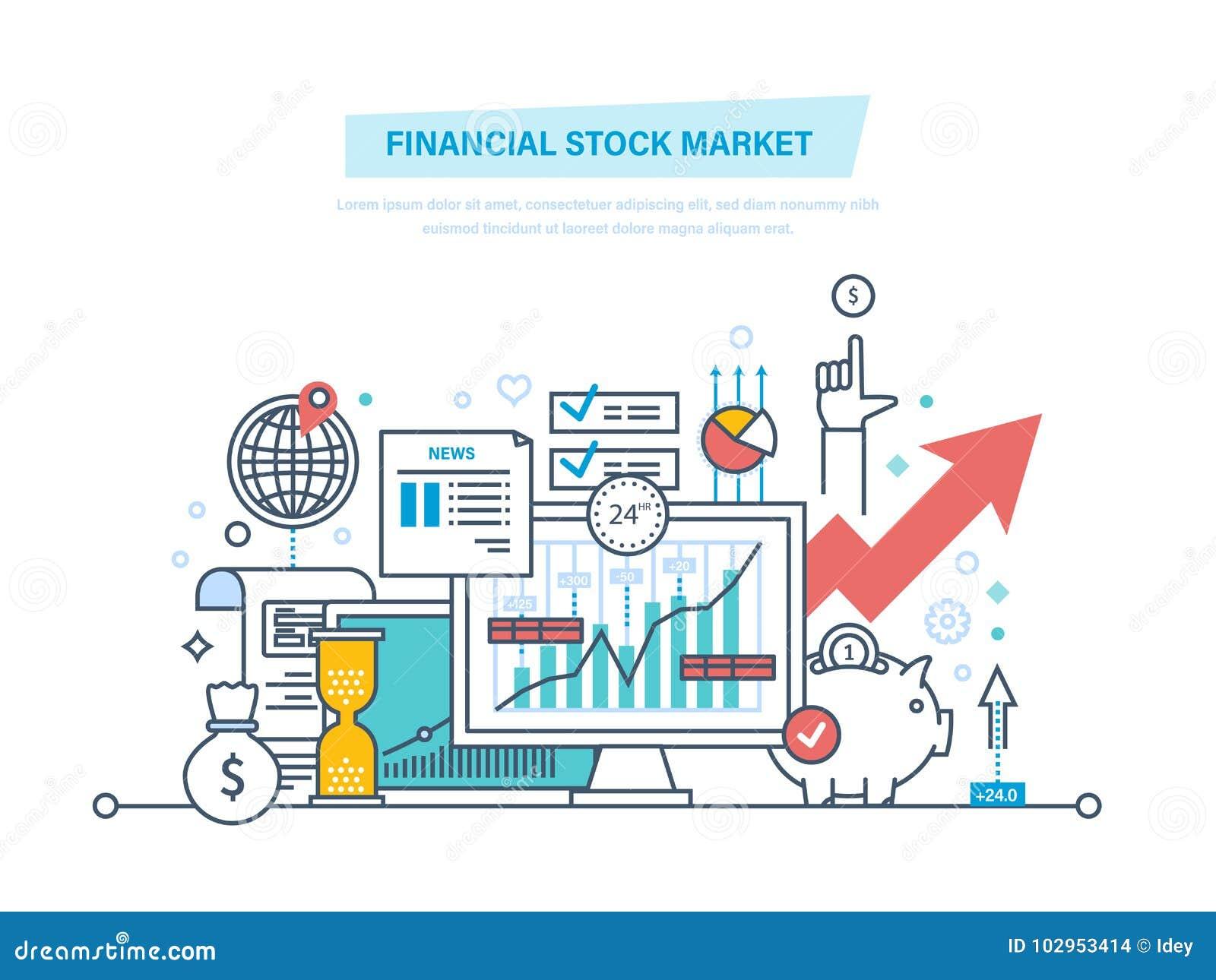 Finansiell aktiemarknad Kapitalmarknader handel, e-kommers, investeringar, finans