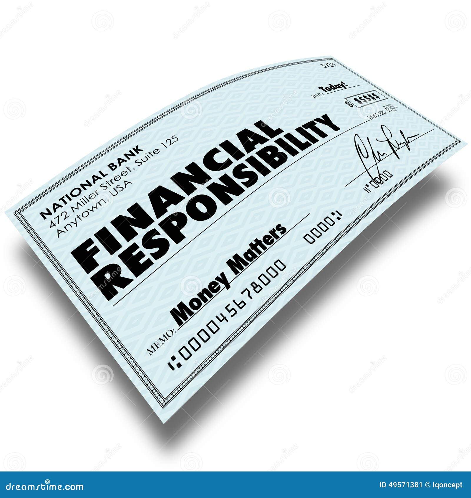 Finansiell ansvarkontroll Bill Payment Money Owed Paying De