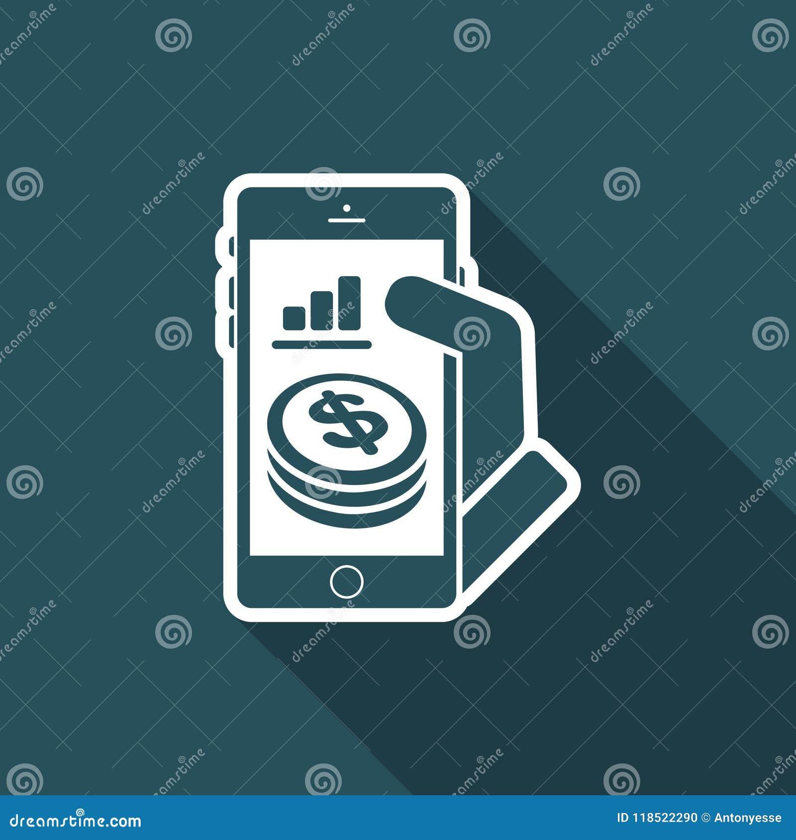 Finansiell applikation på smartphonen - dollar