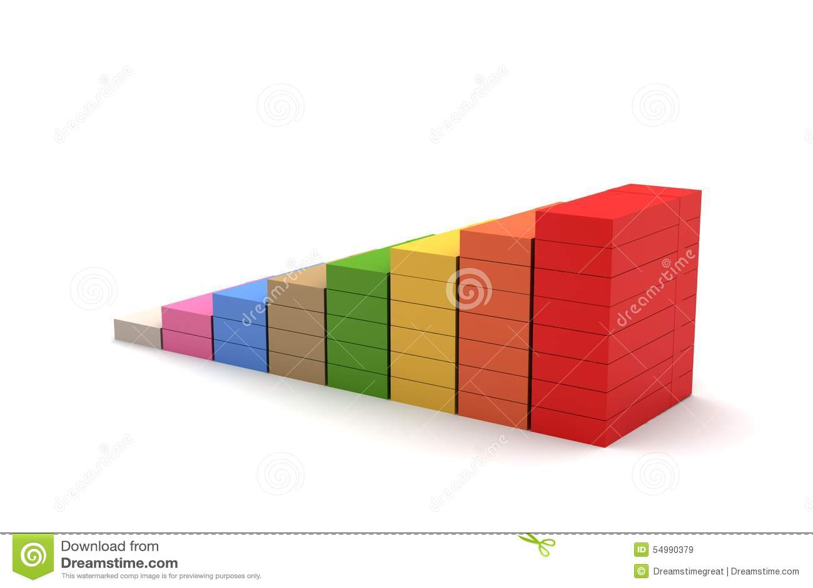 Finansiell graf i framgång