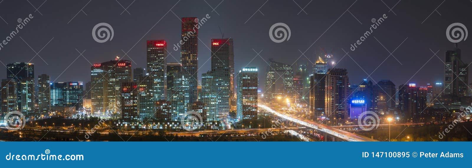 Finansiell horisont för Peking som är central, affärsområde, Peking