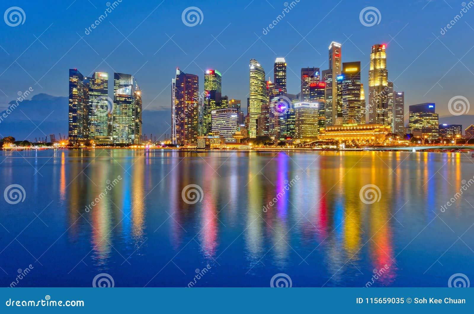 Finansiellt område för Singapore affär
