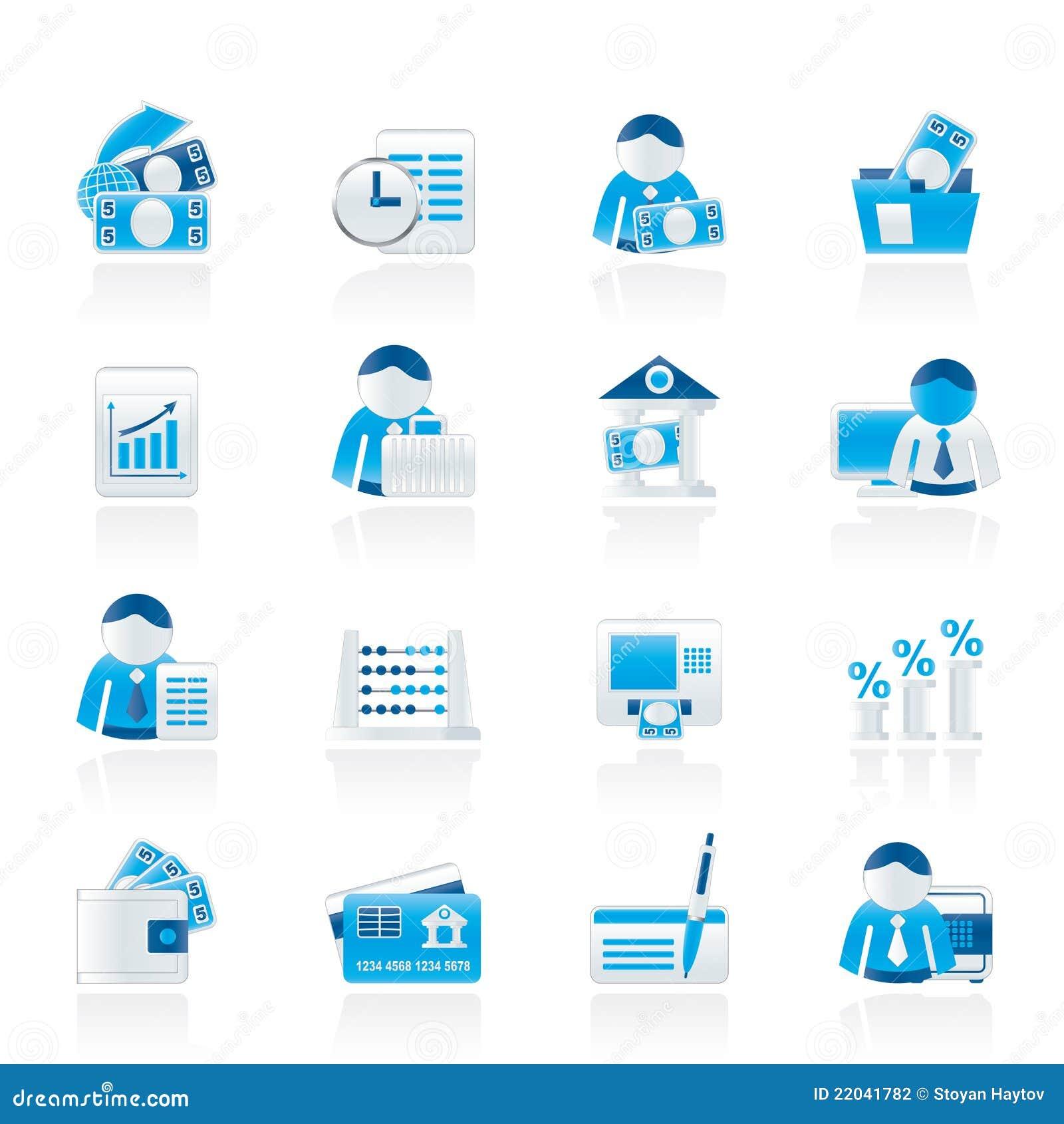 Finansowe bank ikony