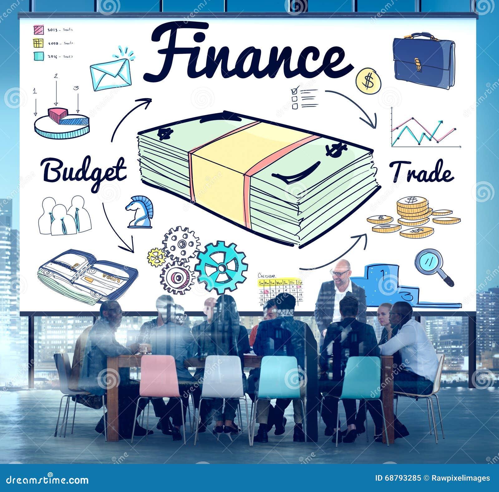 Finansowy pieniądze długu wydatku handlu pojęcie