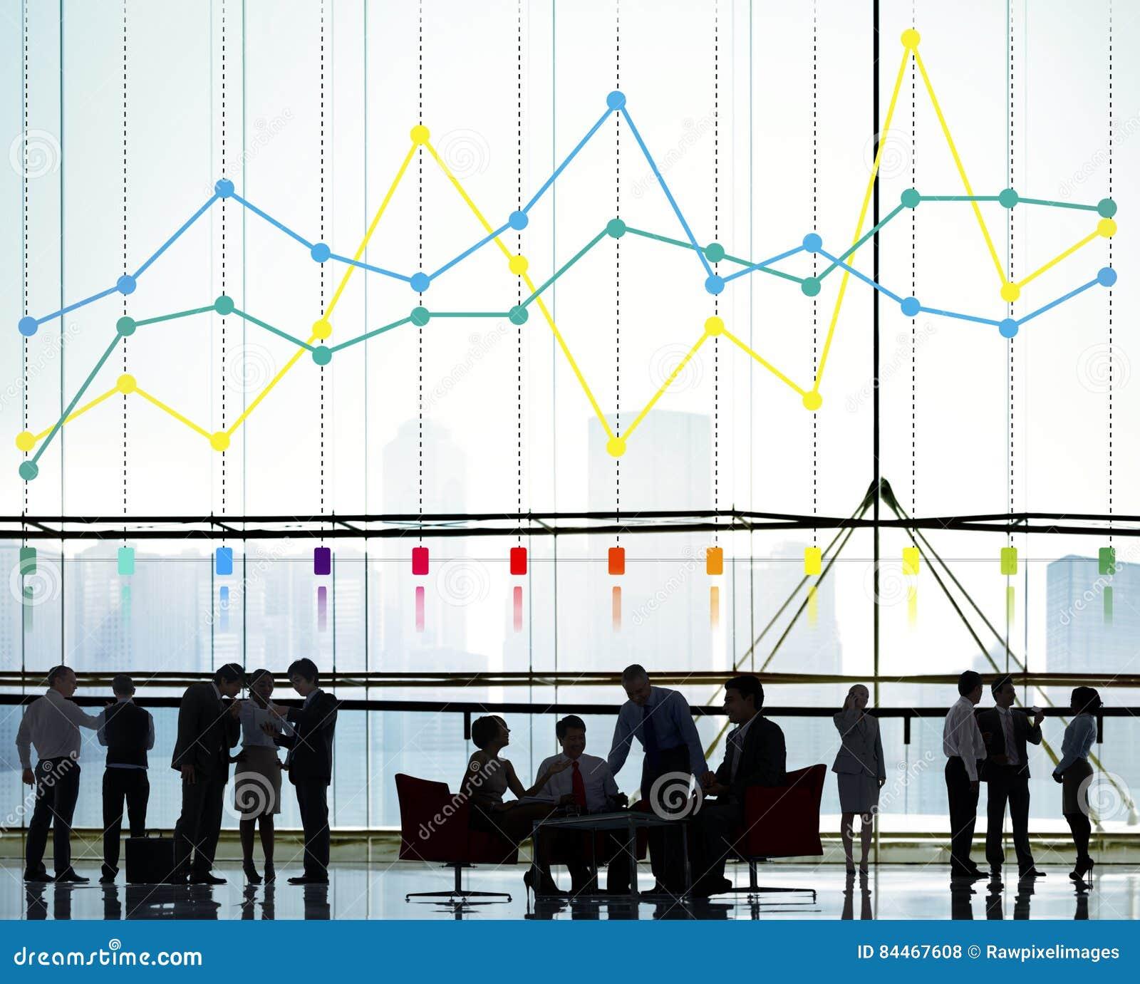 Finansowy Raportowy księgowość statystyk biznesu pojęcie