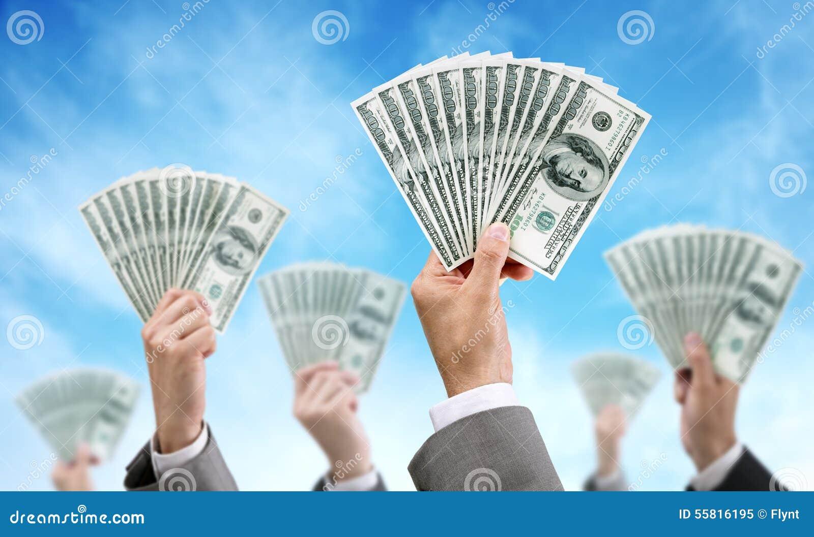 Finanza ed investimento di finanziamento della folla