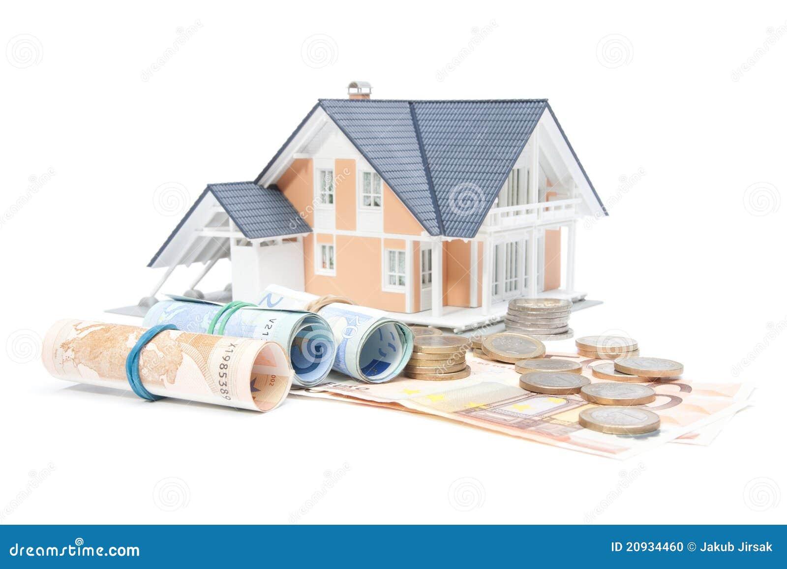 Finanzas del hogar casa y dinero foto de archivo for Casa articulos del hogar