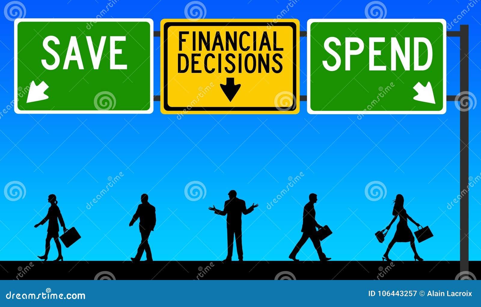 Finanzentscheidungen speichern aufwenden