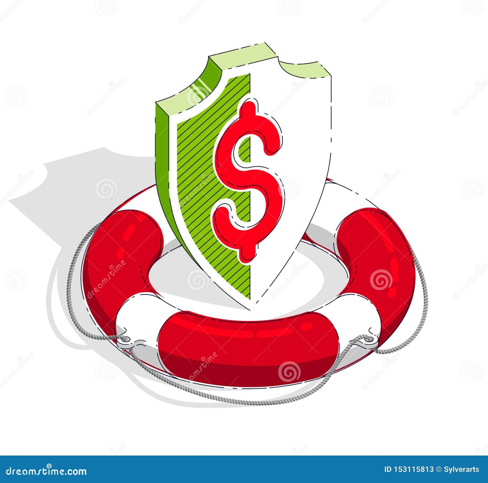 Wei Farbe: Finanzsicherheits- Und Schutzkonzept, Leben-Boje Und