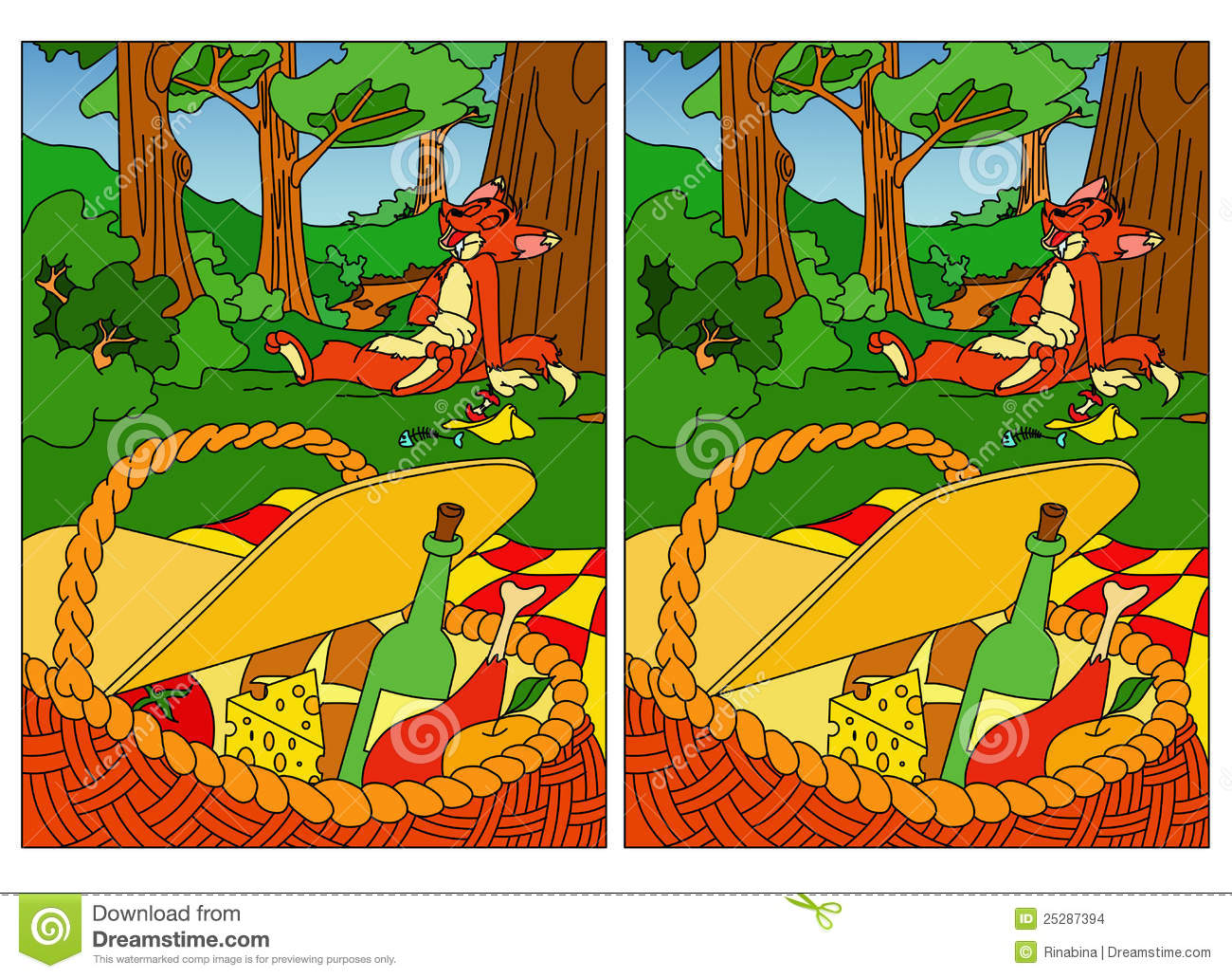 Find Differences Stock Images Image 25287394