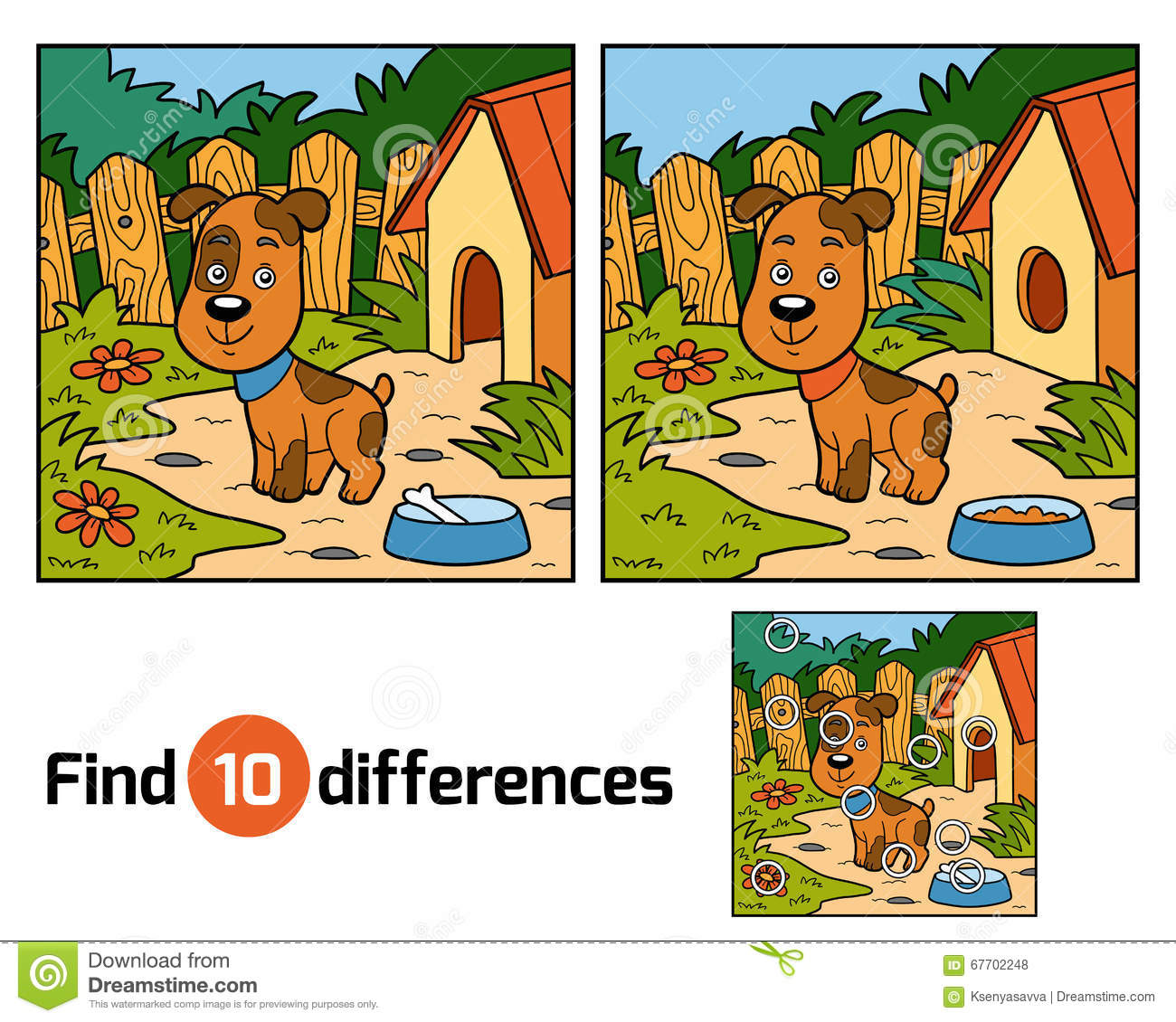 Brain Teasers: 12 Free 'Spot the Difference' Puzzles Find differences between two pictures for kids