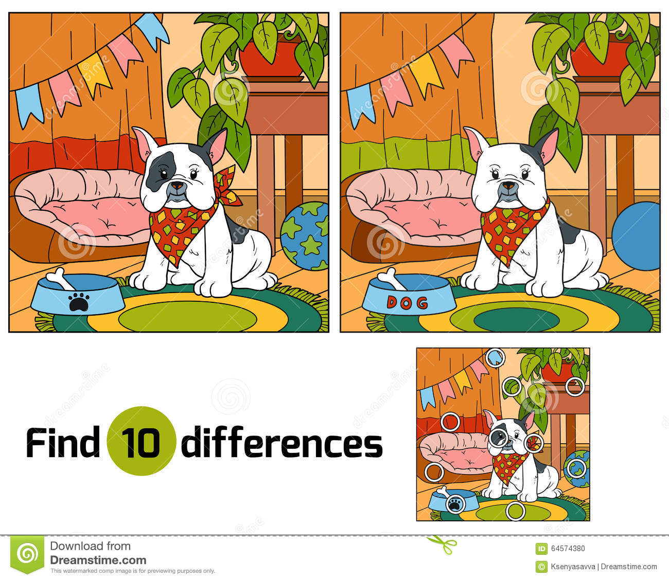 Spring Pond Find the Differences - Activity Village Find differences between two pictures for kids
