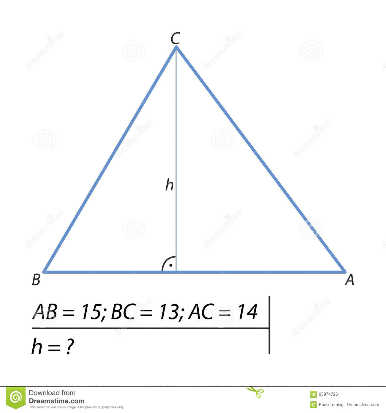 How to find the height of a parallelogram