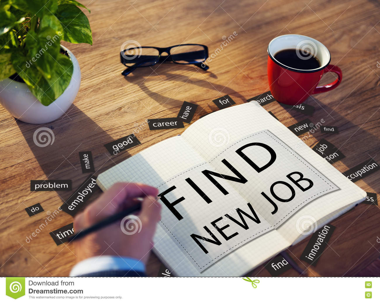 find new job applicant hiring employment concept stock image image