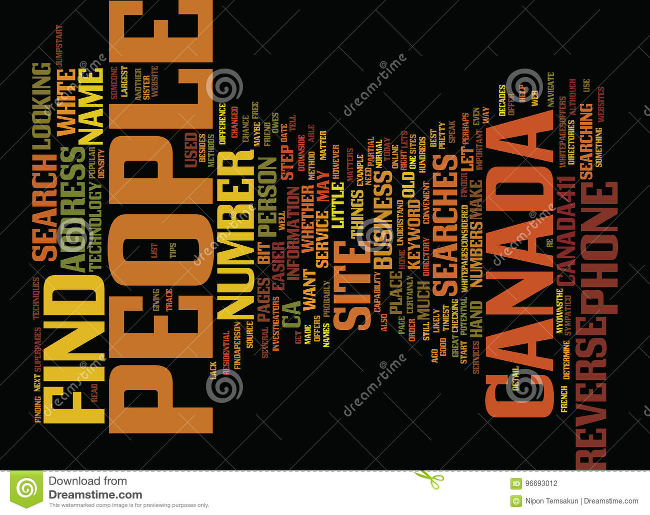 Find People In Canada Text Background Word Cloud Concept