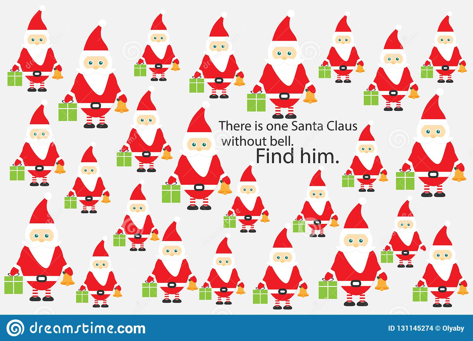 find santa claus without bell christmas fun education puzzle game