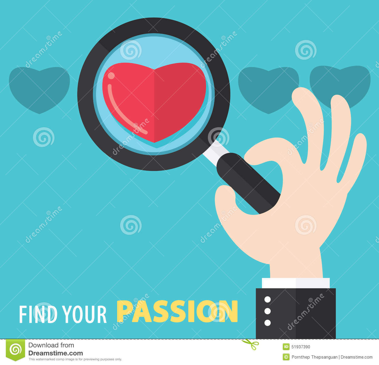 find your passion background stock vector image 51937390 find your passion background