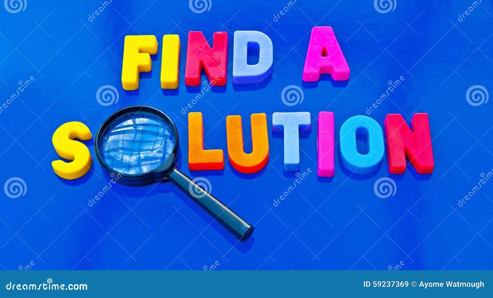 Finden Sie eine Lösung