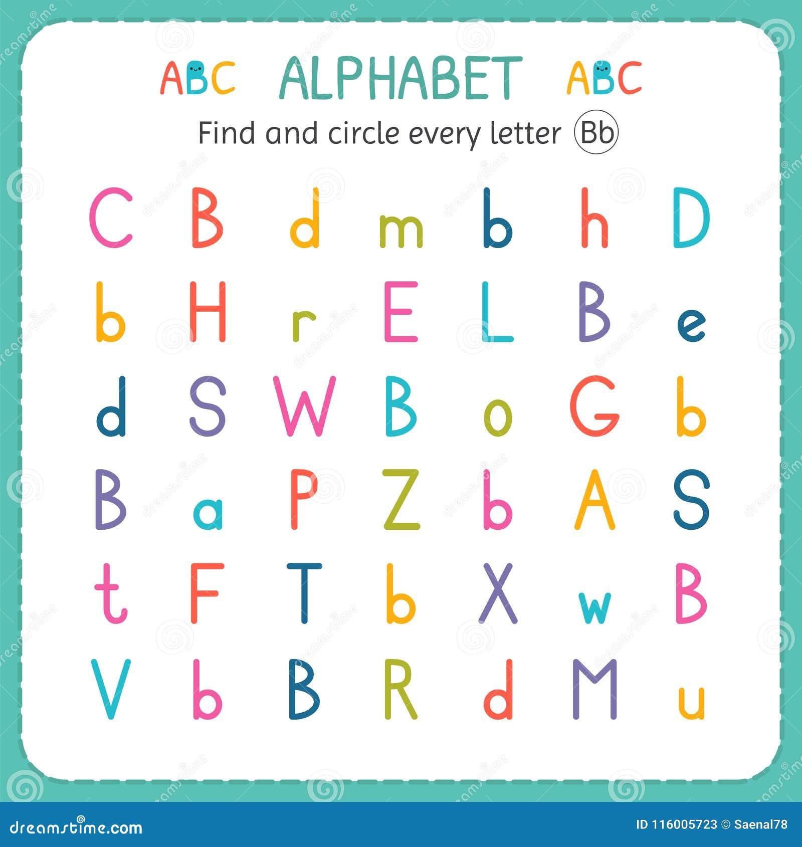 Finden Sie Und Kreisen Sie Jeden Buchstaben B Ein Arbeitsblatt Für