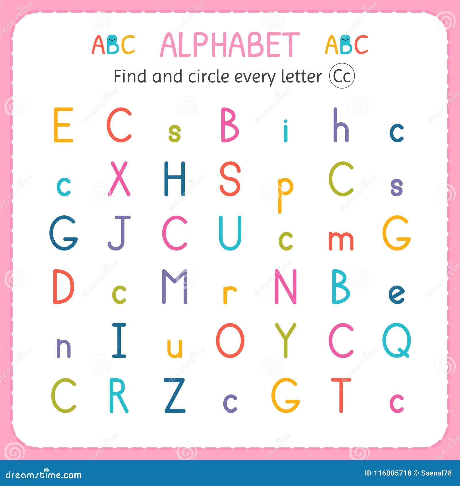 Finden Sie Und Kreisen Sie Jeden Buchstaben C Ein Arbeitsblatt Für ...
