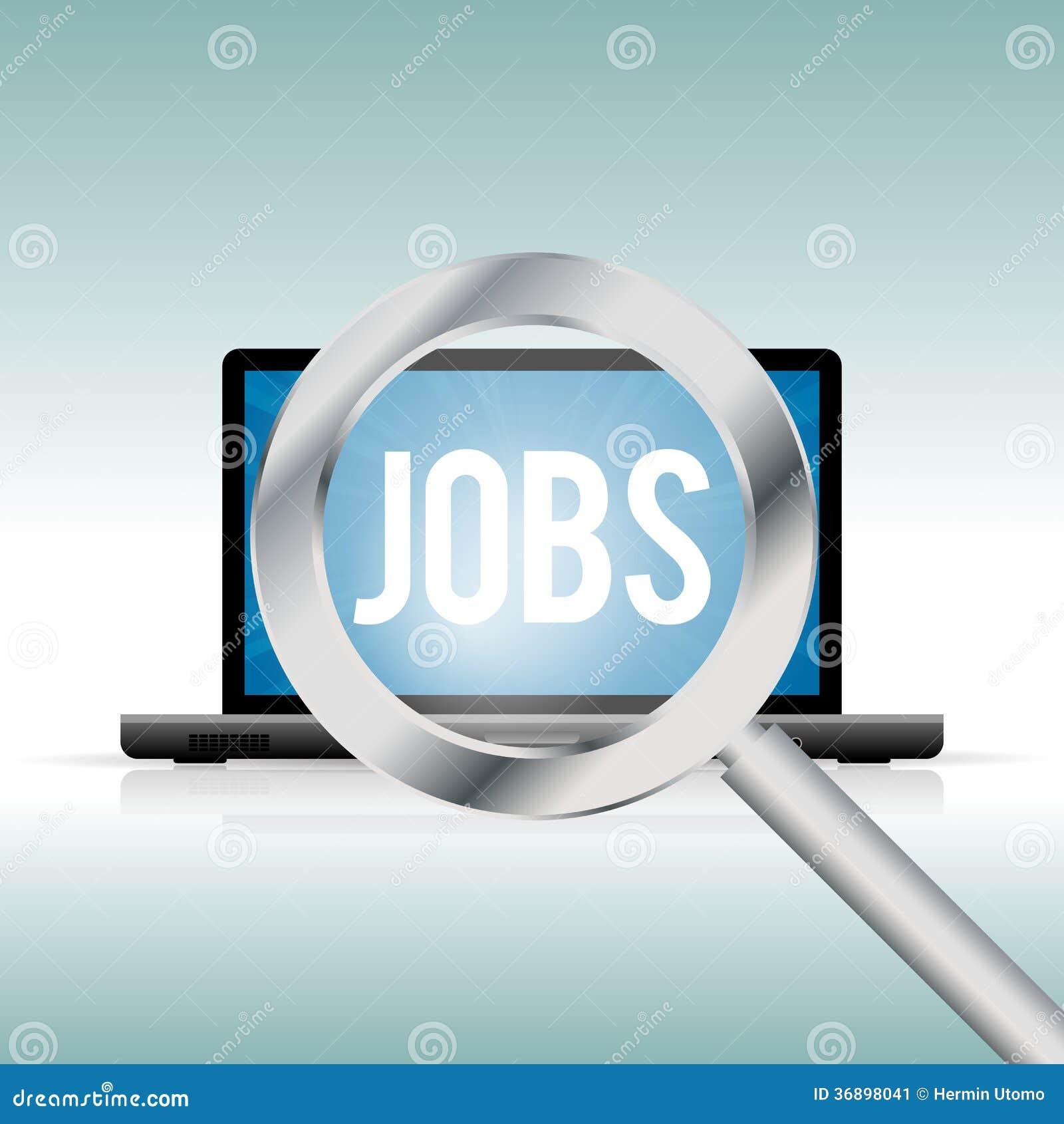 finding jobs online stock image image  finding jobs online