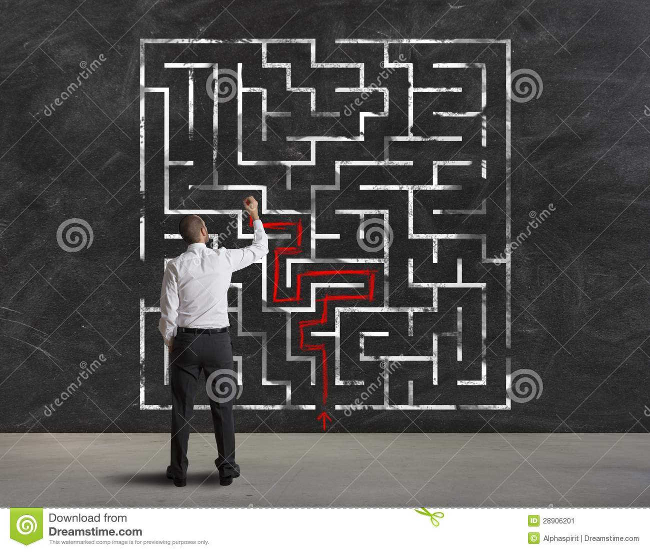 Finding the solution of maze
