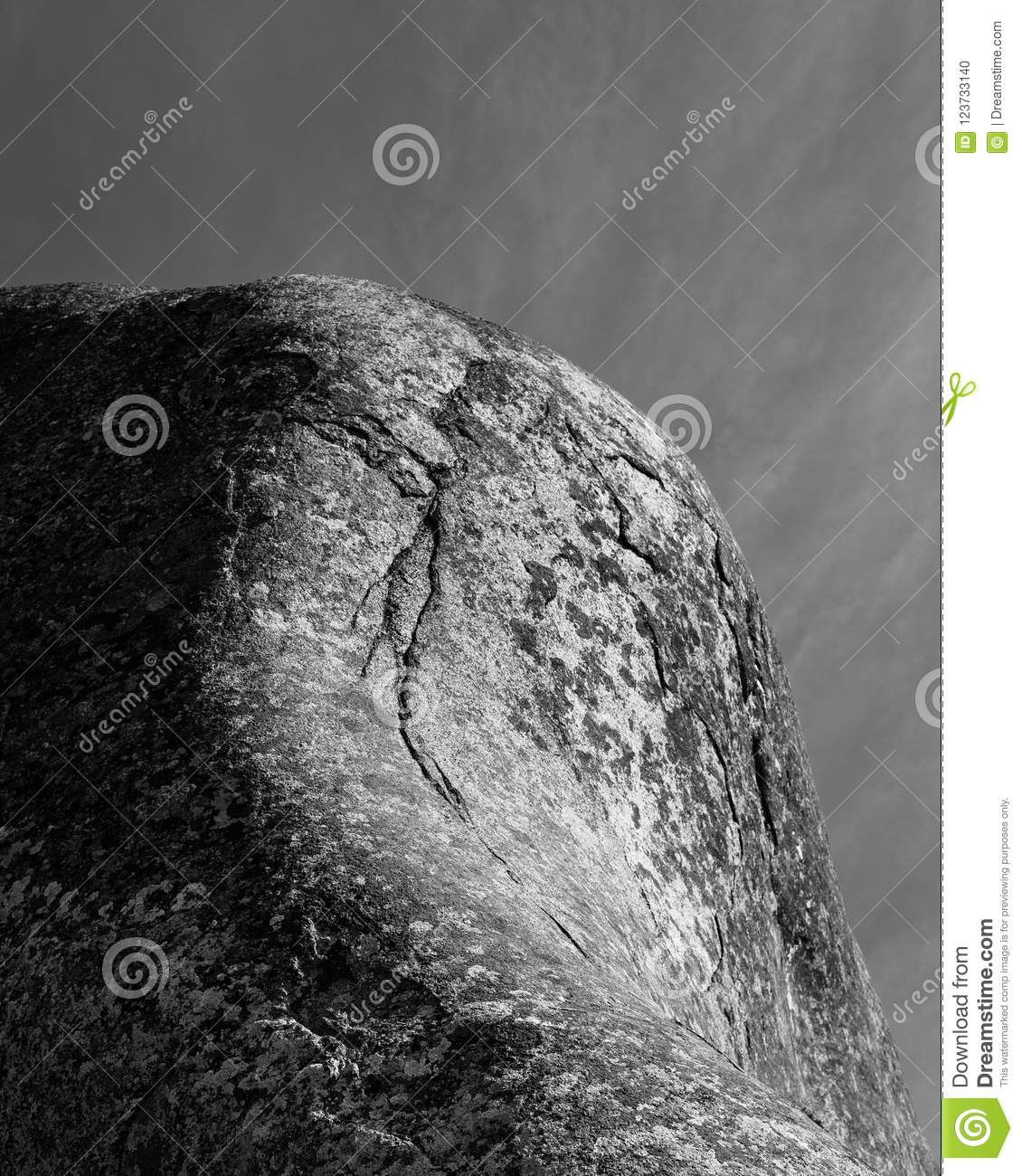 Fine Art Natural Abstract Rock Formation Stock Photo Image
