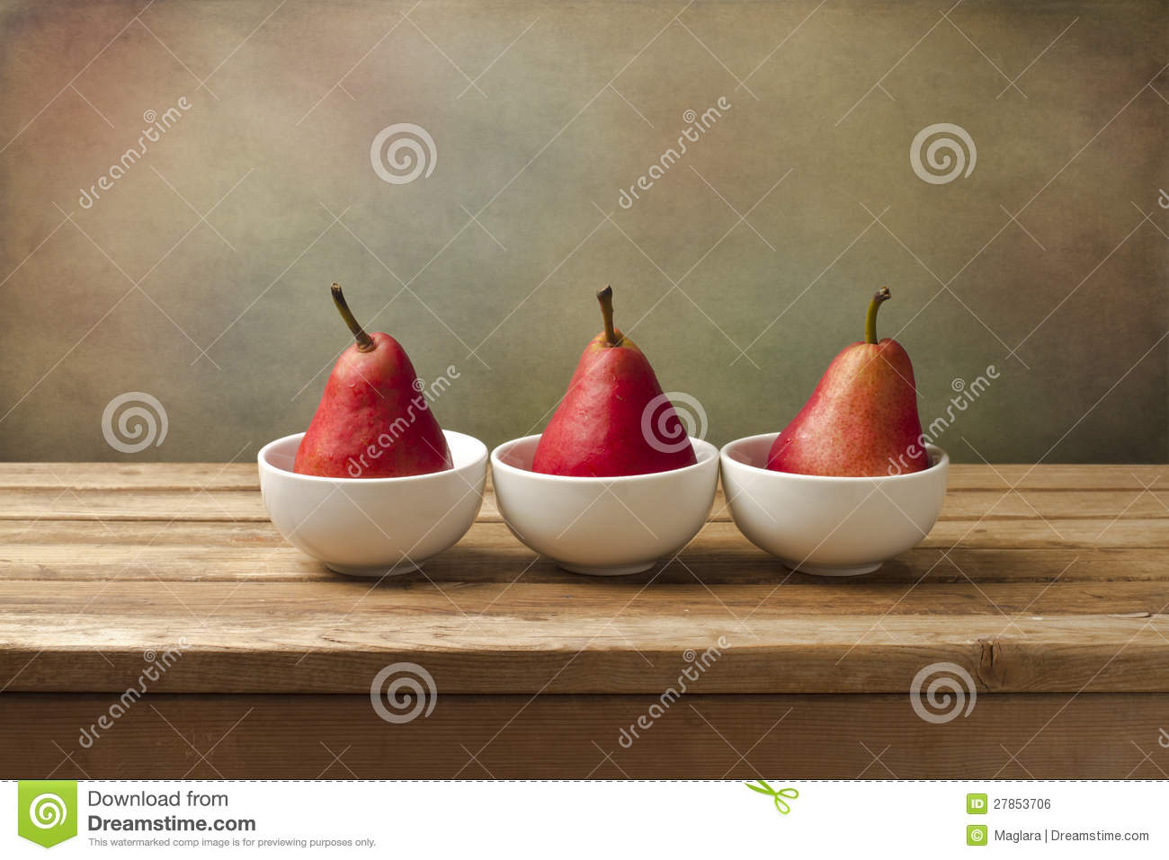Fine art still life with red pears