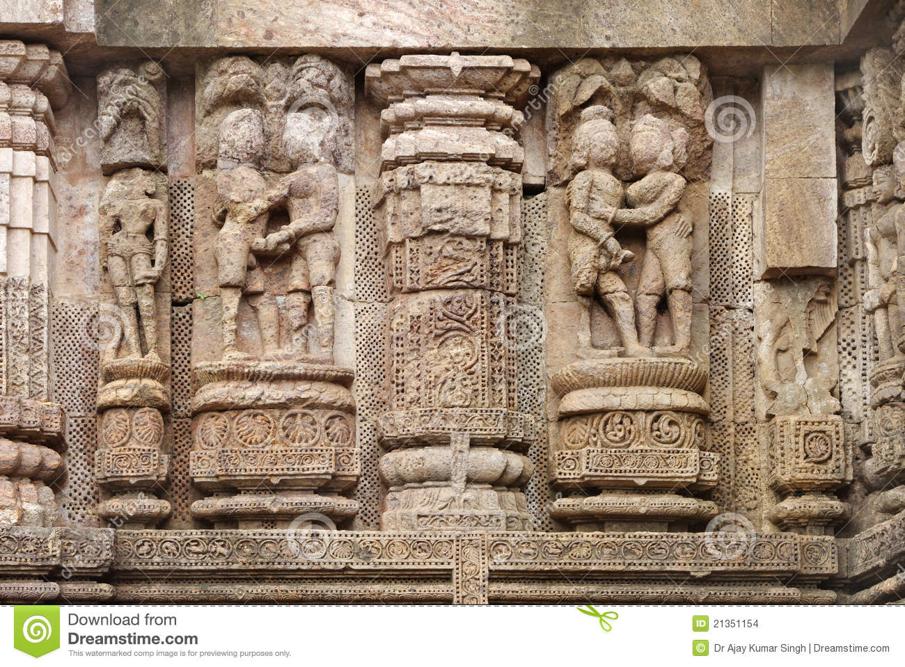 Erotic carving on temples